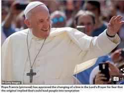 """Giáo Hoàng Francis Thay Đổi """"Kinh Lạy Cha"""" Để Con Chiên Khỏi Phỉ Báng Thiên Chúa"""
